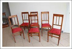 Gruppo sei sedie Liberty in noce massello restaurate poltrone seggiole fine 800!Antiche Antiquariat