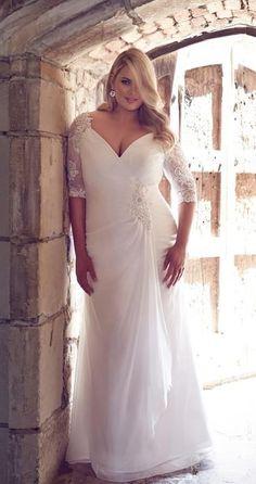 cool plus size bridal gown