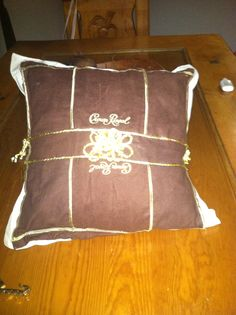 Pillow made out of crown royal bags !!!