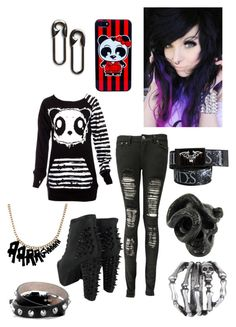 """Emo girl"" by musiclover-247 ❤ liked on Polyvore featuring Poizen Industries, Boohoo, Jeffrey Campbell, Alexander McQueen, Gathering Eye, MANGO, women's clothing, women, female and woman"