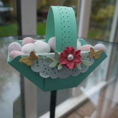 Easter Basket made with the envelope punch board.