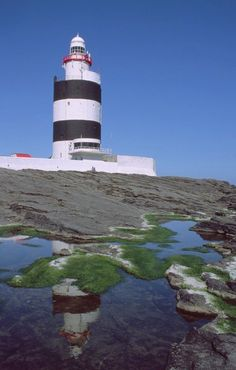 Hook Lighthouse County Wexford - founded by William Marshal. https://en.wikipedia.org/wiki/Hook_Lighthouse