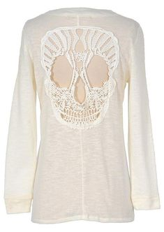 #Valentines #AdoreWe #Fairy Season - #Lace Lace Skull Button Pocket Cardigan - AdoreWe.com