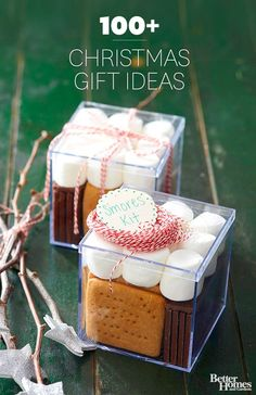 DIY Gifts 2018 Homemade Christmas presents, handmade food gifts, pretty DIY cards, and gorgeous gift wrap make every gift you give this Christmas extra special. We also have Christmas crafts ideas! Christmas Treats, Christmas Holidays, Christmas Boxes, Christmas Lights, Christmas Cookies, Smores Kits, Navidad Simple, Diy Cadeau Noel, Diy Food Gifts