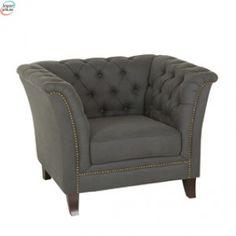 Lexington Sofa 1 Seter Blågrå Med Dekorative Nagler