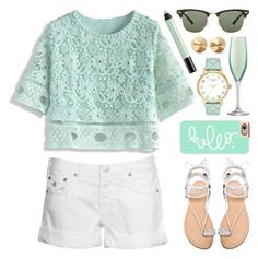 """Simply Mint"" by lgb321 ❤ liked on Polyvore featuring Chicwish, Ray-Ban, True Religion, Casetify, Stuart Weitzman, Kate Spade, LSA International, Eddie Borgo, shu uemura and simple"