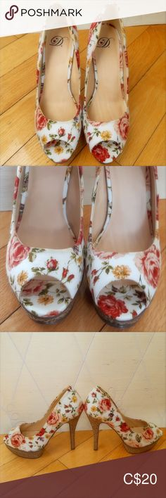 I just added this listing on Poshmark: Delicious Floral Open Toe Shoes. Open Toe High Heels, Open Toe Shoes, High Heel Pumps, Pumps Heels, Slow Fashion, Fashion Tips, Fashion Trends, Floral Heels, Floral Fabric