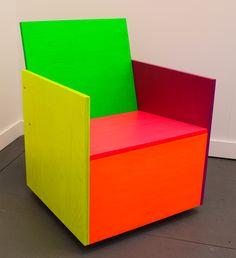 "mary heilmann chairs | Mary Heilmann, ""Rietveld-Remix #7"" (2014) in 303 Gallery's Frieze New ..."