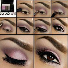 Tendance Maquillage Yeux 2017 / 2018 \u2013 Maquillage pour les yeux Light  purple pink smokey eye