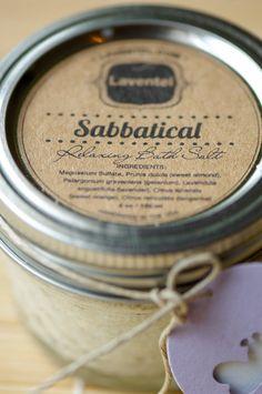 Laventel.com Sabbatical A relaxing Bath Salt 4 oz on Etsy, $8.00 #gift