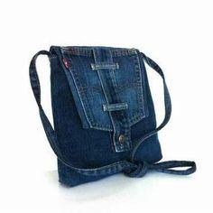 Small Messenger Bag, Small Crossbody Bag, Blue Jean Purses, Denim Handbags, Leather Handbags, Brighton Handbags, Denim Purse, Denim Shoulder Bags, Recycled Denim