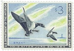 1963 $3.00 Brant Landing Ducks for sale at Mystic Stamp Company