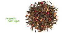 Hot Lips (Organic) - Green tea with cinnamon, chili pepper, and pink peppercorns. Love the heat!