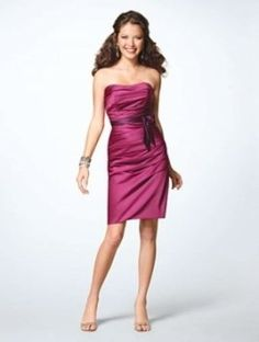 Alfred Angelo Violet Dress With Grape Waistband 7123 Dress $80