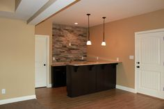 Basement kitchenette...home built by James Williams, Custom Home Builder.