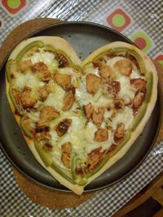 Heart-shaped Pizza for Valentine's Day Heart Shaped Pizza, Quiche, Valentines Day, Breakfast, Food, Valentine's Day Diy, Morning Coffee, Essen, Quiches