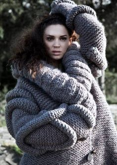 designer Hege Midtun Larsen love this chunky textural knitted jumper couture fashion piece for 2014 autumn winter season trend love scandi style knits must try this