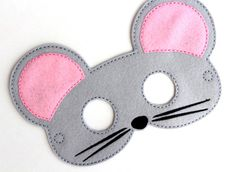 Kids Mouse Mask Mouse Costume Felt Mask Kids Face Mask Animal Mask Halloween Costume Pretend Play Dress Up Party Favors Costume Mouse Mask, Pig Mask, Halloween Kostüm, Halloween Costumes, Halloween Juegos, Chicken Costumes, Felt Kids, Mouse Costume, Felt Mouse