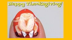 Thanksgiving nail art is festive but also a little terrifying