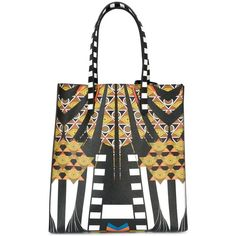 Givenchy medium Egyptian art deco printed tote (339.810 HUF) ❤ liked on Polyvore featuring bags, handbags, tote bags, black, purses, givenchy tote, handbags purses, givenchy handbags, purse tote and print tote bags