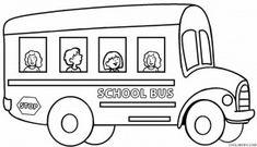preschool school bus coloring pages | Free Printable School Bus Coloring Pages For Kids | pet ...