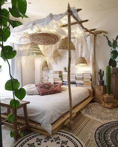 Deco Zen, Bohemian Bedroom Decor, Decorating Small Spaces, Common Area, Minimalist Bedroom, New Homes, House Design, Interior Design, Furniture