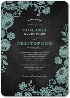 Chalked Affair - Signature White Wedding Invitations in Light Gray or Tea Rose | Magnolia Press