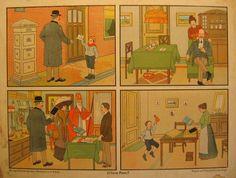 De komst van Sinterklaas leidt bij veel kinderen tot behoorlijk wat spanning. De schoenen worden netjes gepoetst, zodat de Sint er bij het verwijderen van wortel, suiker en hooi uit de schoen geen opmerkingen over kan maken. Kinderen deden dat ook al een kleine honderd jaar geleden. Want zo oud is de schoolplaat, die als een soort strip het verhaal vertelt van de brief van een jongetje aan de Sint. DOORKLIKKEN VOOR HET HELE VERHAAL!