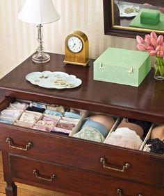 Three dreamy lingerie storage tips