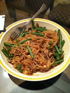 My shirataki lo mein recipe! Only 7PP for a HUGE bowl of noodles (8oz!)