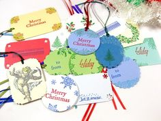 You pick out the perfect gift and take special care to wrap it 'just so.' Now you need that distinctive handmade, one of a kind custom tag to attach to your masterpiece.  Each one of these 15 gift tag