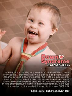 Troy; Peace, Love & Down Syndrome @National Down Syndrome Society