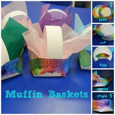 Muffing Baskets for Muffins for Mom Celebration (from Learning and Teaching With Preschoolers)