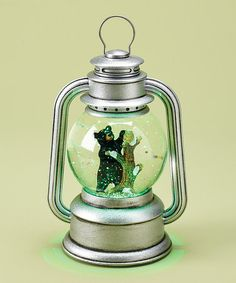 Love this Black Bear Snow Globe LED Musical Lantern Globe on #zulily! #zulilyfinds
