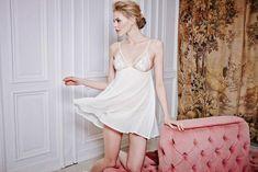 Fleur Of England Creme De La Creme Ivory Silk Brief size L