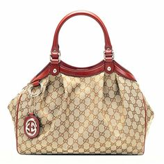 Gucci Sukey Red Leather Top Handle Bag >>> Check this awesome product by going to the link at the image.