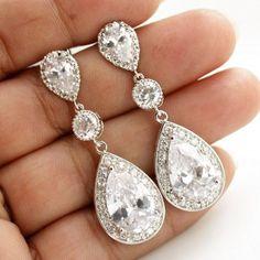 Bridal Jewelry Wedding Jewelry Bridal Earrings by poetryjewelry