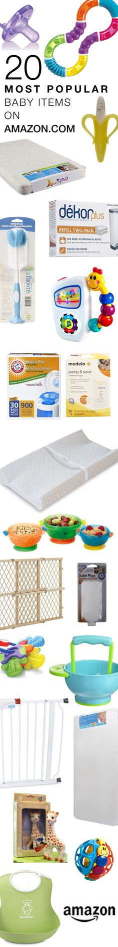 20 Most Popular Baby Items on Amazon.com    Plenty of baby shower gift ideas, gender neutral nursery items, new and educational baby toys, and more ideas for moms. And make it easy for friends and family to shop for you by registering with Amazon. https://www.amazon.com/baby-reg/homepage?ref=tsm_1_pi_s_amzn_babreg1