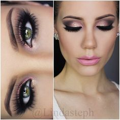 Dramatic smokey eye, and those lashes are to die for.