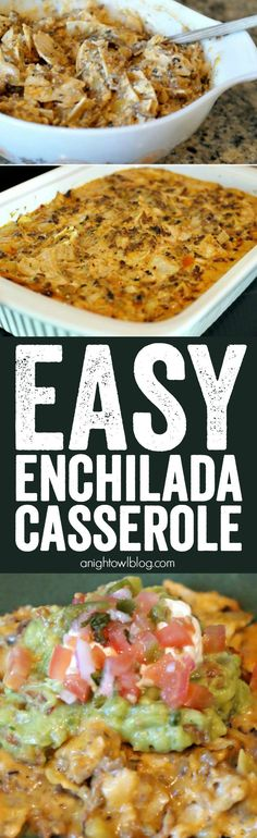 Easy Enchilada Casserole - literally the easiest and BEST enchilada casserole I've found! A family favorite!