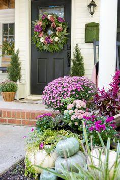 Purple Pink and Fuschia Fall Porch