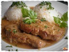 Skvelý recept na ako Hovädzia roštenka na horčici s ryžou. Recepty na hovädziu roštenku. Výborné hovädzie na prírodno Pork, Food And Drink, Cooking Recipes, Beef, Chicken, Kale Stir Fry, Meat, Chef Recipes