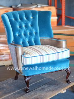 Custom Order - upholstered wingback accent chair - made to order custom…