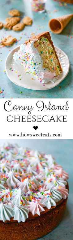 Coney Island Cheesecake. Finish off summer with this fun dessert! by @Jan Howard sweet eats I howsweeteats.com