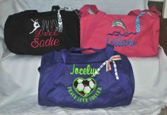 Personalized Sports/Gym/Dance/Cheer/ Duffel Bag w/ FREE Customized Embroidery!!