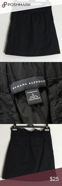 Banana Republic Black Skirt - 2 📌Final Price - Zipper good.  Hook good.  It's a cutie, but you will need to have a good lint brush. It attracts link. Gently Used Condition. Steam needed. Taffeta feel.  Please ask questions before purchasing.  See pictures for more information and description details.  Thank you for stopping by my closet.  Sparkles ✨ and Happy Poshing! Banana Republic Skirts