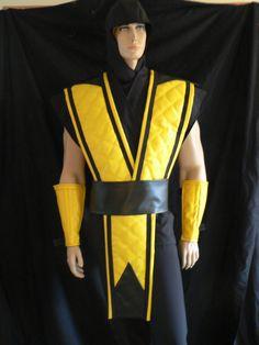 Mortal Kombat Costume Scorpion, Custom Made to Order