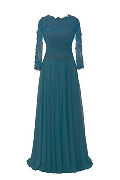 Ankang Women's Lace Long Sleeve Mother of the Bride Formal Beaded Prom Party Dress Teal US2 AnKang http://www.amazon.com/dp/B0181TU8VM/ref=cm_sw_r_pi_dp_MNzPwb1JVZ7HK