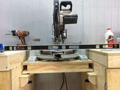 New Yankee Miter Bench Vs. Utimate Tool Stand #7: Miter Saw Installation - by scarpenter002 @ LumberJocks.com ~ woodworking community