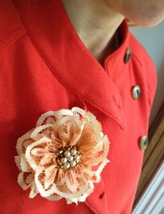 Design by Night: Ombre fabric painted lace flower